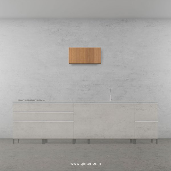 Lambent Kitchen Wall Cabinet in White and Oak Finish - KWC011 C86