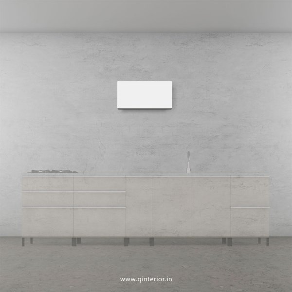 Stable Kitchen Wall Cabinet in White Finish - KWC011 C4