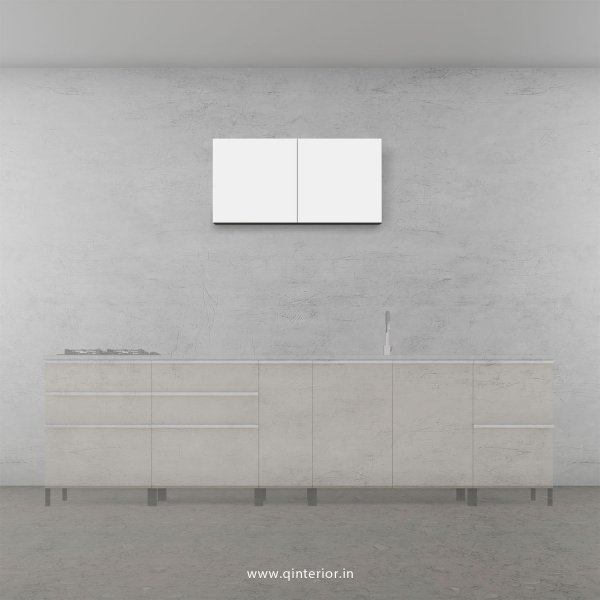 Stable Kitchen Wall Cabinet in White Finish - KWC005 C4