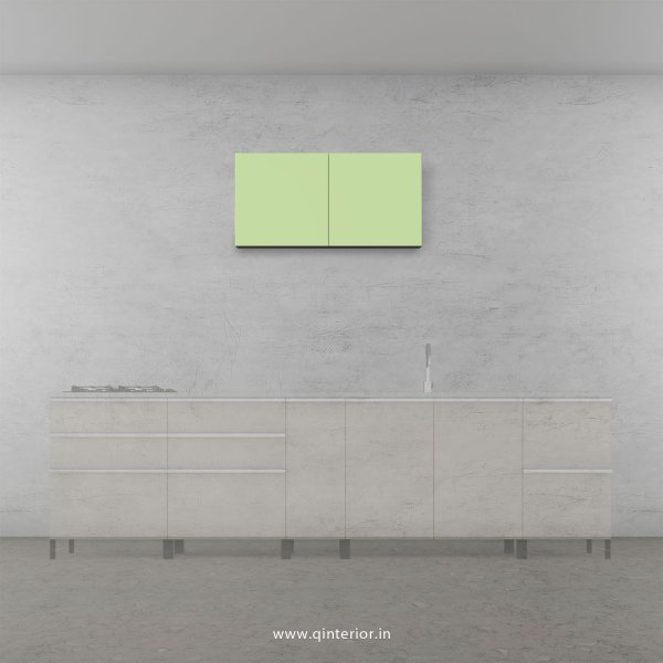 Lambent Kitchen Wall Cabinet in White and Pairie Green Finish - KWC005 C83
