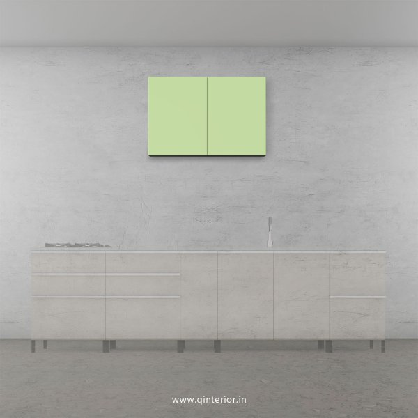 Lambent Kitchen Wall Cabinet in White and Acrylic Finish - KWC006 HGL04