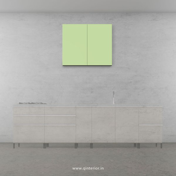 Lambent Kitchen Wall Cabinet in White and Pairie Green Finish - KWC007 C83