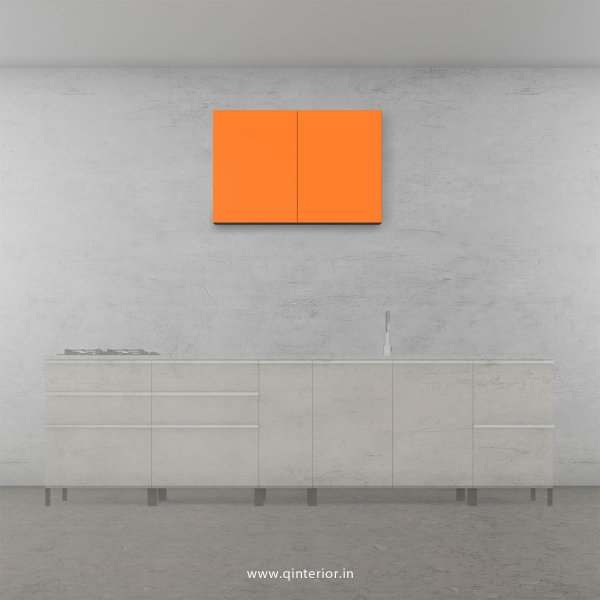Lambent Kitchen Wall Cabinet in White and Saffron Finish - KWC006 C90