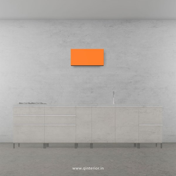 Lambent Kitchen Wall Cabinet in White and Saffron Finish - KWC011 C90