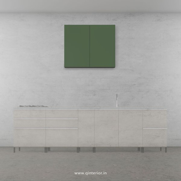 Lambent Kitchen Wall Cabinet in White and English Ivy Finish - KWC007 C82