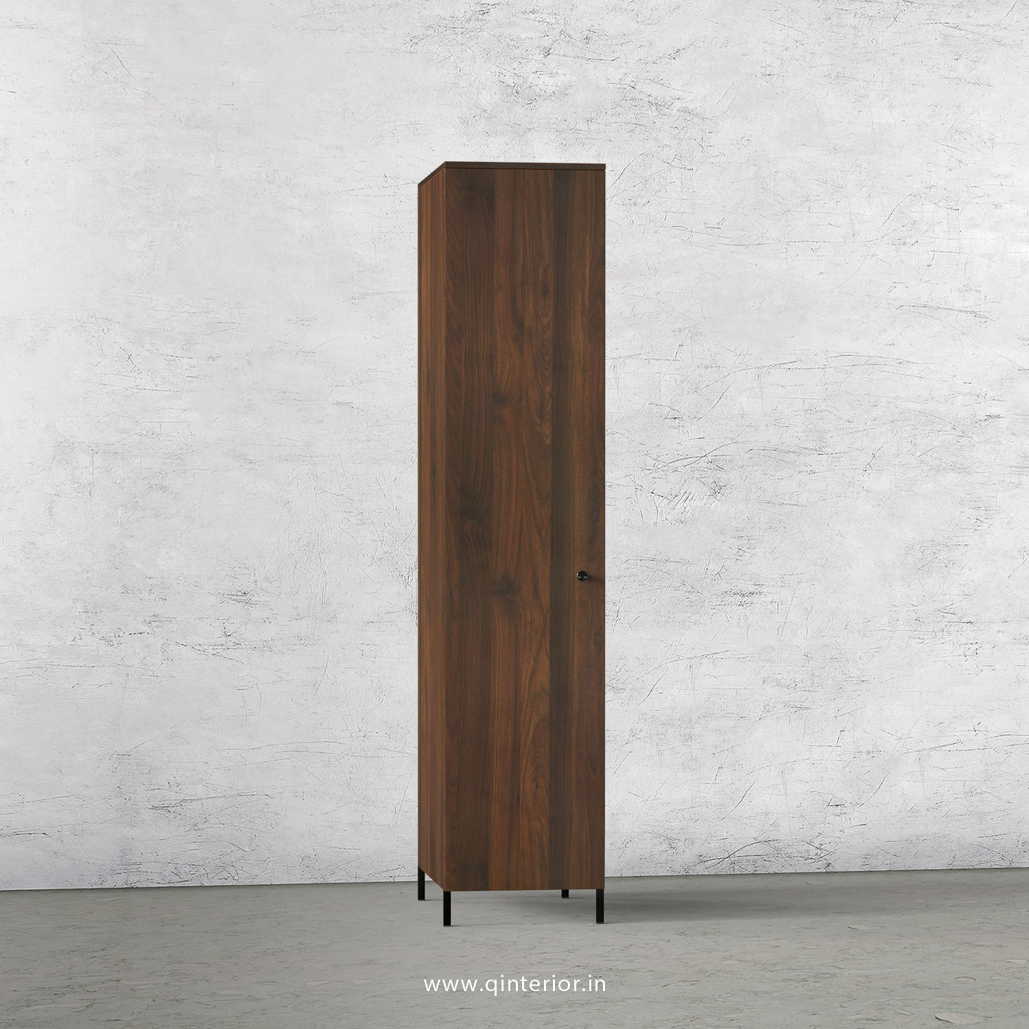 Stable 1 Door Wardrobe in Walnut Finish – SWRD001 C1