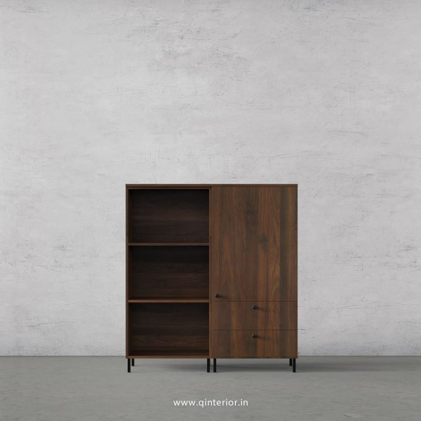 Stable Book Shelf in Walnut Multicolor Finish – BSL006 C1