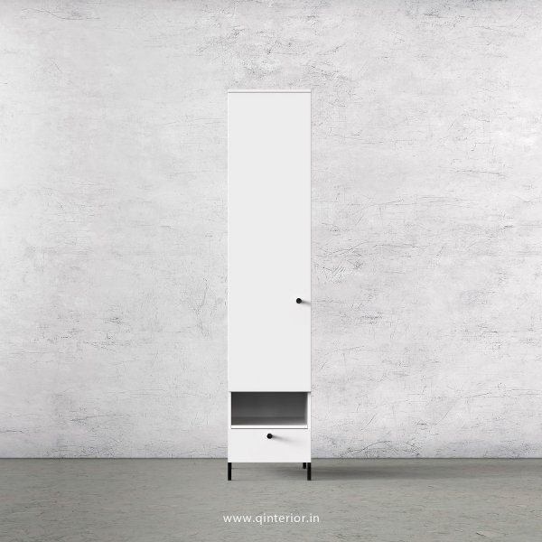 Stable 1 Door Wardrobe in White Finish – SWRD003 C4