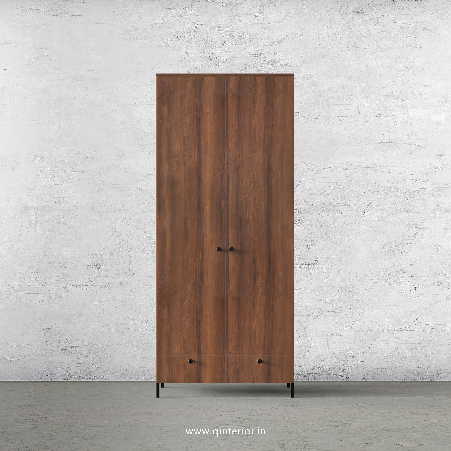 Stable 2 Door Wardrobe in Teak Finish – DWRD002 C3
