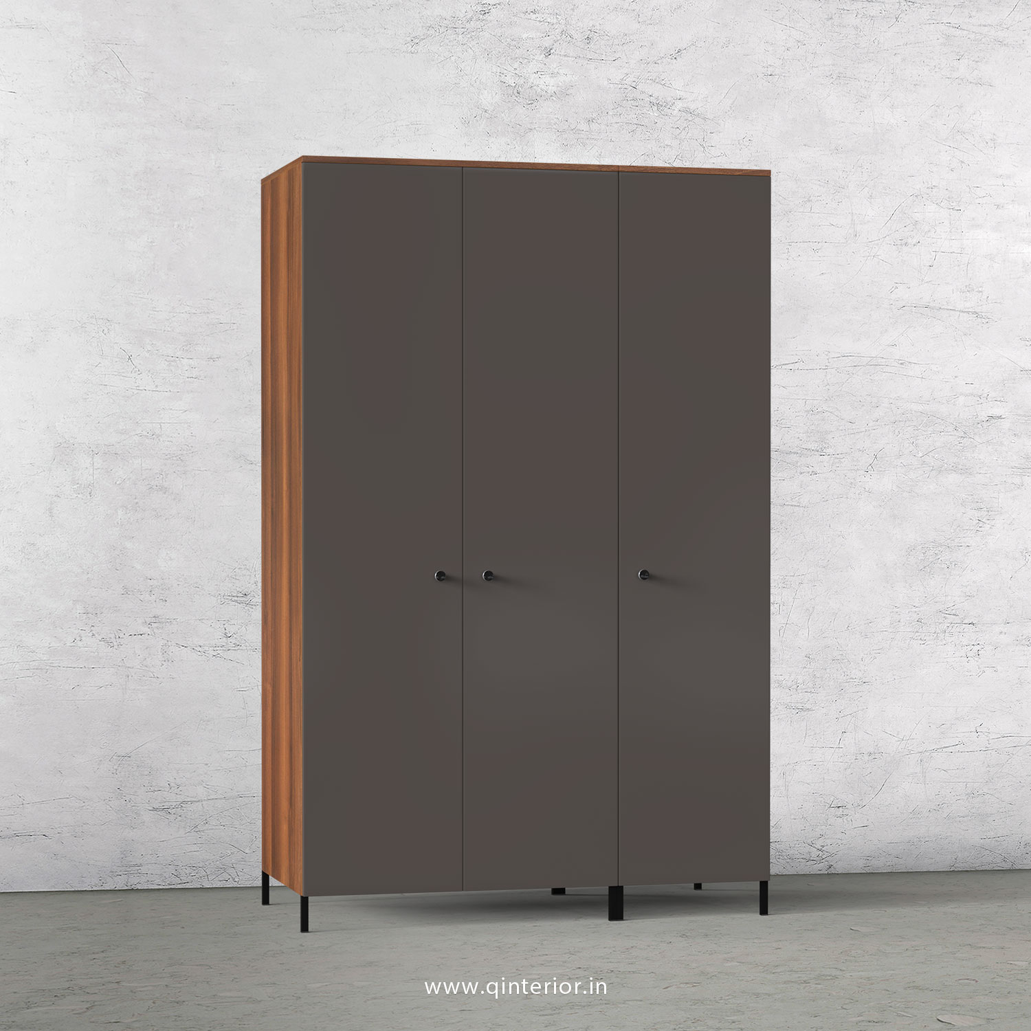 Lambent 3 Door Wardrobe in Teak and Slate Finish – TWRD001 C15