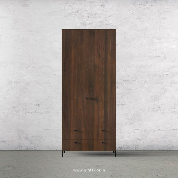 Stable 2 Door Wardrobe in Walnut Finish – DWRD003 C1