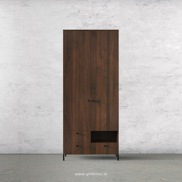 Stable 2 Door Wardrobe in Walnut Finish – DWRD004 C1