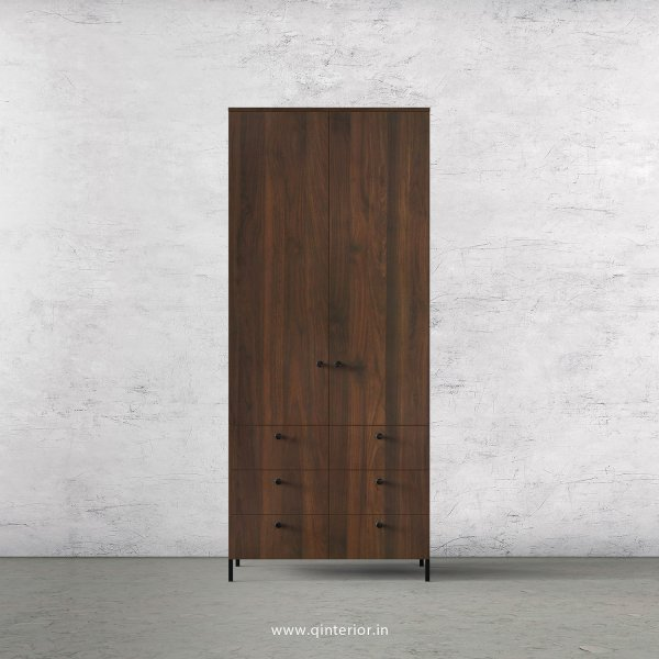 Stable 2 Door Wardrobe in Walnut Finish – DWRD006 C1
