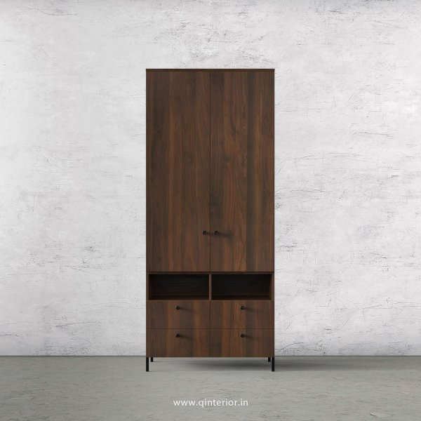 Stable 2 Door Wardrobe in Walnut Finish – DWRD008 C1