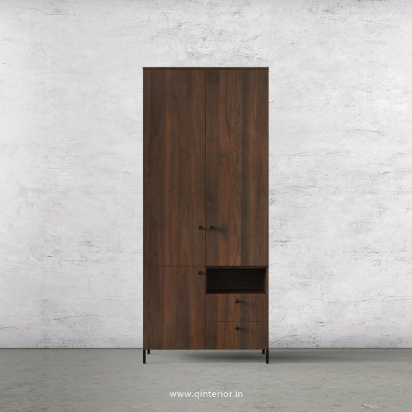 Stable 2 Door Wardrobe in Walnut Finish – DWRD011 C1