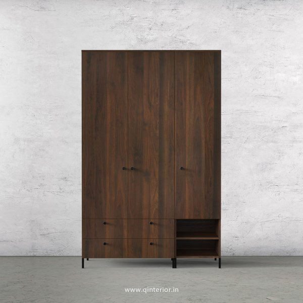 Stable 3 Door Wardrobe in Walnut Finish – TWRD003 C1