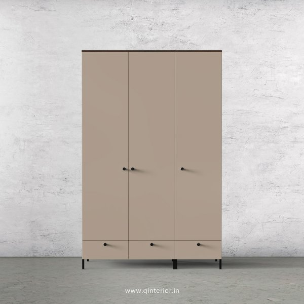 Lambent 3 Door Wardrobe in Walnut and Cappuccino Finish – TWRD002 C13
