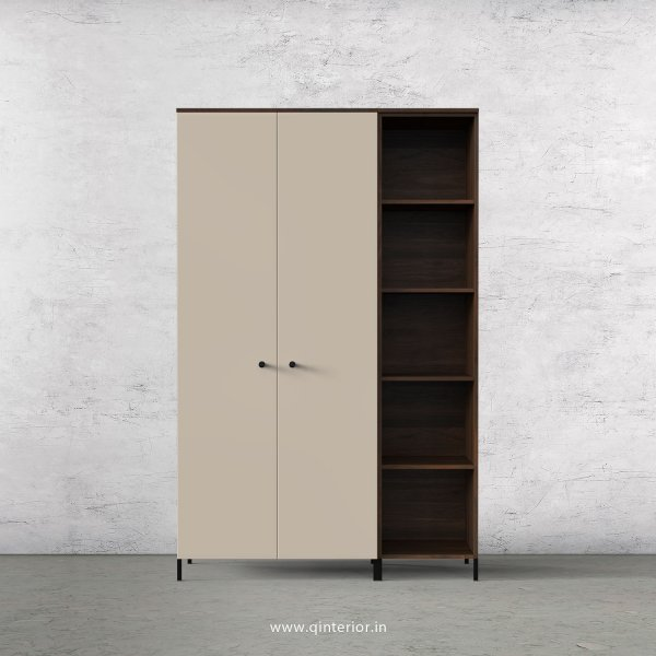 Lambent 3 Door Wardrobe in Walnut and Irish Cream Finish – TWRD012 C22
