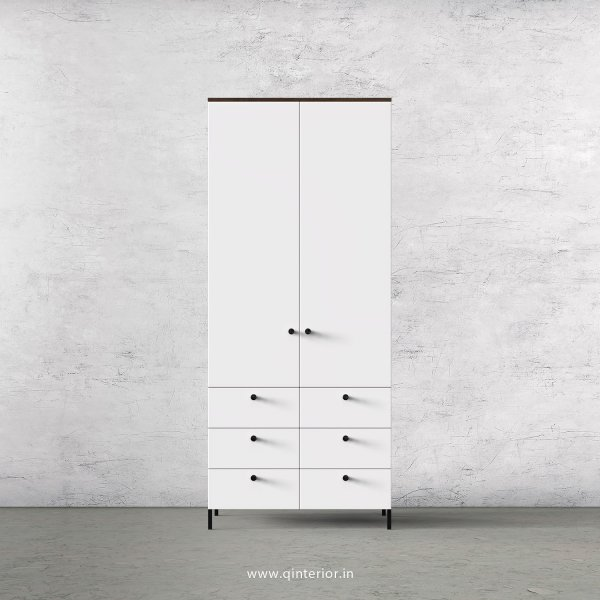 Lambent 2 Door Wardrobe in Walnut and White Finish – DWRD006 C18