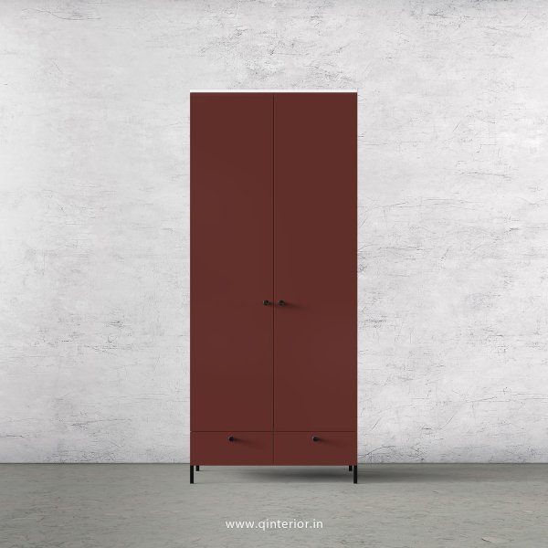 Lambent 2 Door Wardrobe in White and Shangrilla Finish – DWRD002 C14