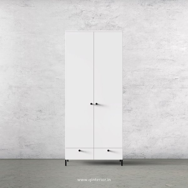 Stable 2 Door Wardrobe in White Finish – DWRD002 C4