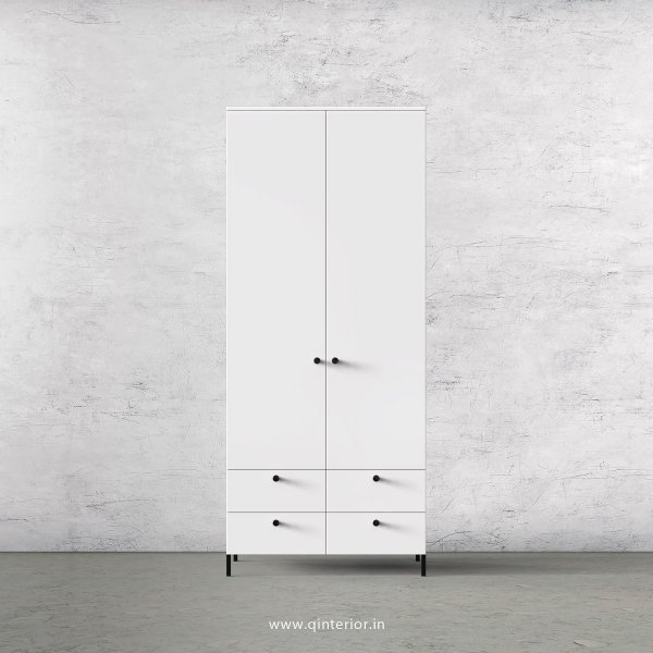 Stable 2 Door Wardrobe in White Finish – DWRD003 C4
