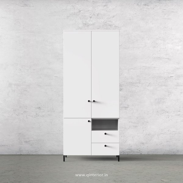 Stable 2 Door Wardrobe in White Finish – DWRD011 C4