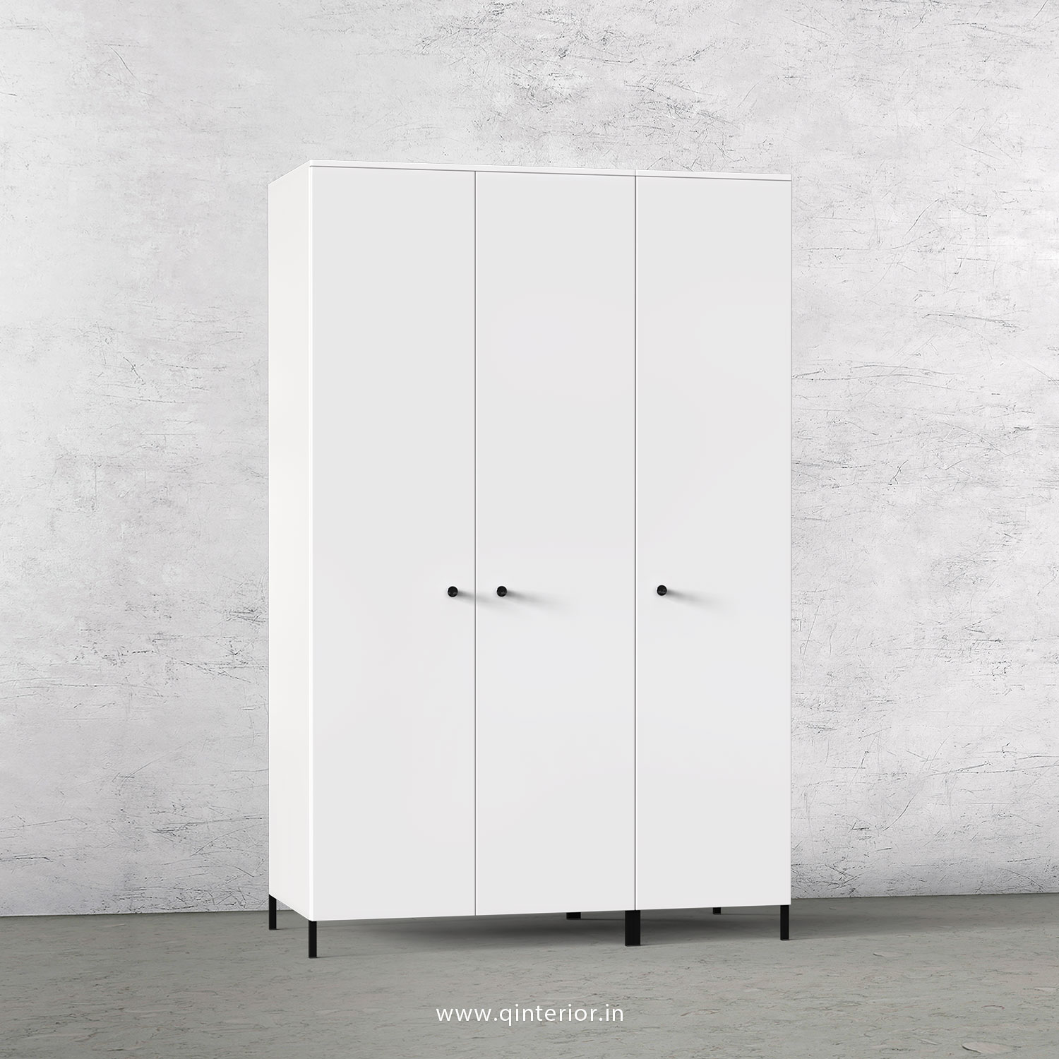 Stable 3 Door Wardrobe in White Finish – TWRD001 C4