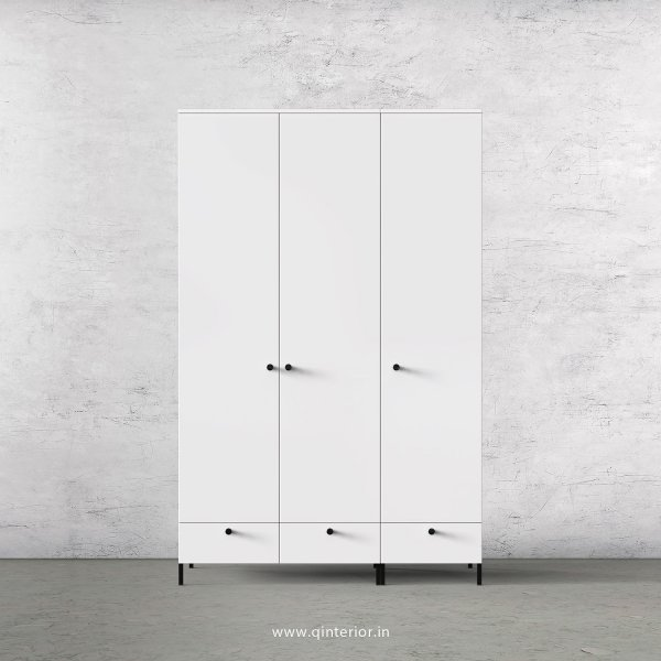 Stable 3 Door Wardrobe in White Finish – TWRD002 C4