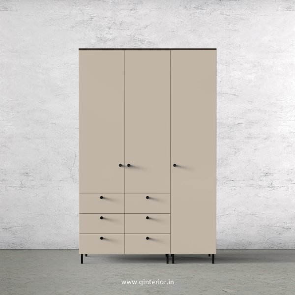 Lambent 3 Door Wardrobe in Walnut and Irish Cream Finish – TWRD004 C22