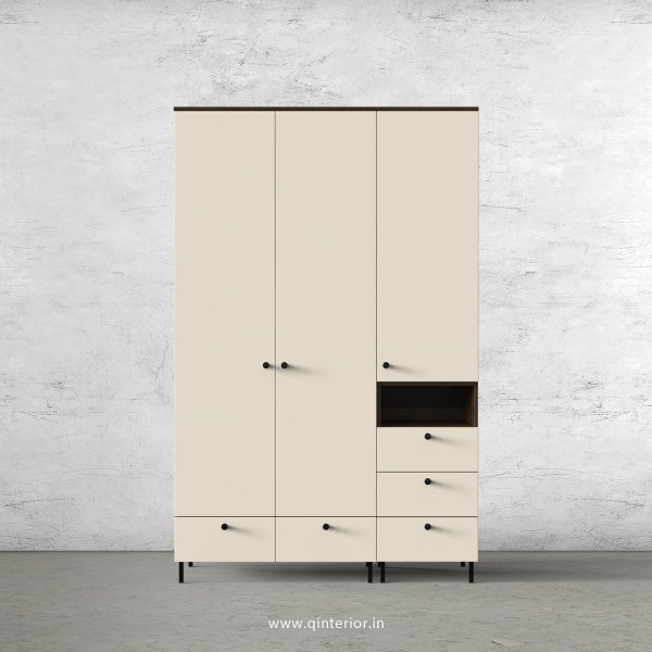 Lambent 3 Door Wardrobe in Walnut and Ceramic Finish – TWRD010 C7