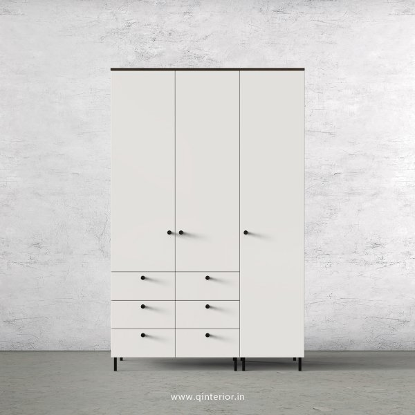 Lambent 3 Door Wardrobe in Walnut and Pale grey Finish – TWRD004 C23