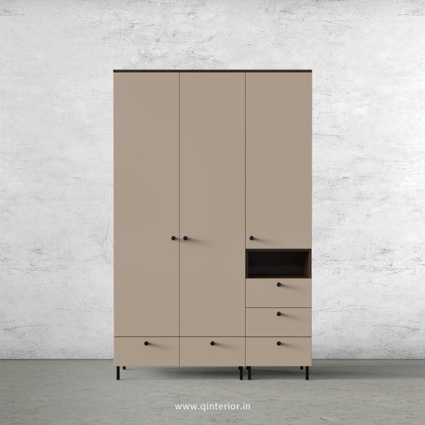 Lambent 3 Door Wardrobe in Walnut and Cappuccino Finish – TWRD010 C13