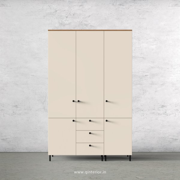 Lambent 3 Door Wardrobe in Oak and Ceramic Finish – TWRD006 C5