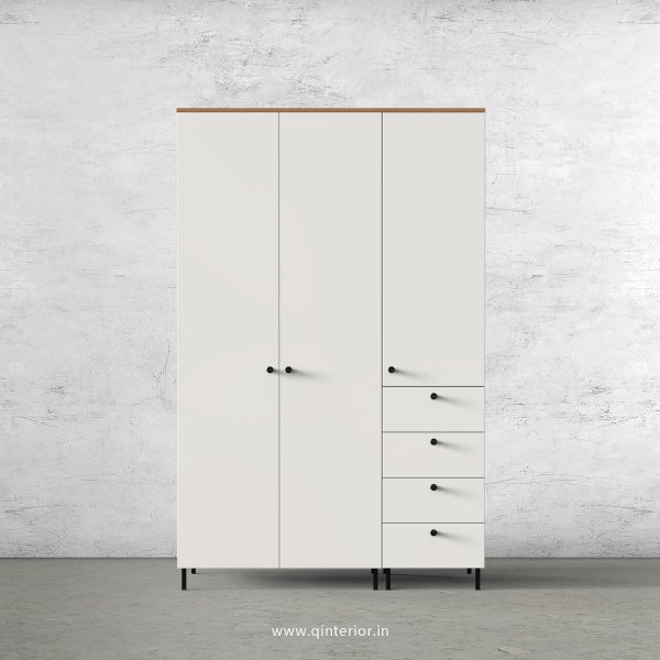 Lambent 3 Door Wardrobe in Oak and Pale Grey Finish – TWRD009 C10
