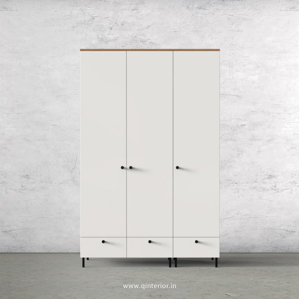 Lambent 3 Door Wardrobe in Oak and Pale Grey Finish – TWRD002 C10