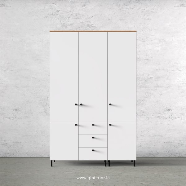 Lambent 3 Door Wardrobe in Oak and White Finish – TWRD006 C8