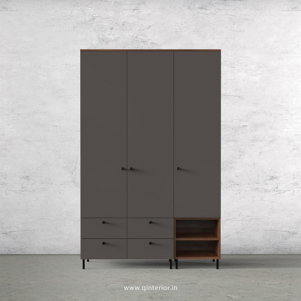 Lambent 3 Door Wardrobe in Teak and Slate Finish – TWRD003 C15
