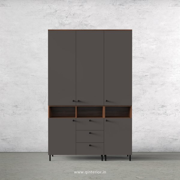 Lambent 3 Door Wardrobe in Teak and Slate Finish – TWRD008 C15