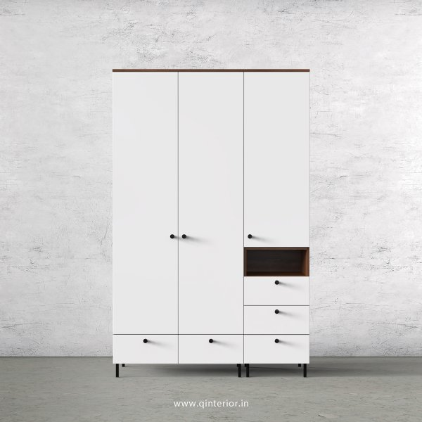 Lambent 3 Door Wardrobe in Teak and White Finish – TWRD010 C6