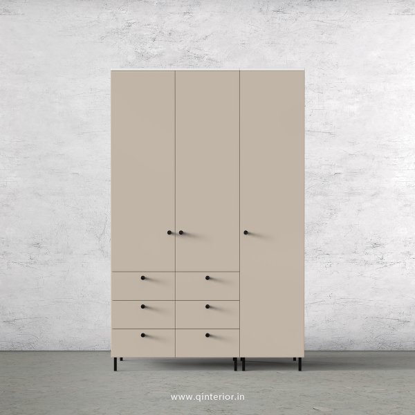 Lambent 3 Door Wardrobe in White and Irish Cream Finish – TWRD004 C88