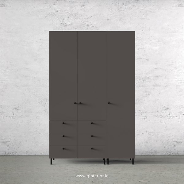 Lambent 3 Door Wardrobe in White and Slate Finish – TWRD004 C16