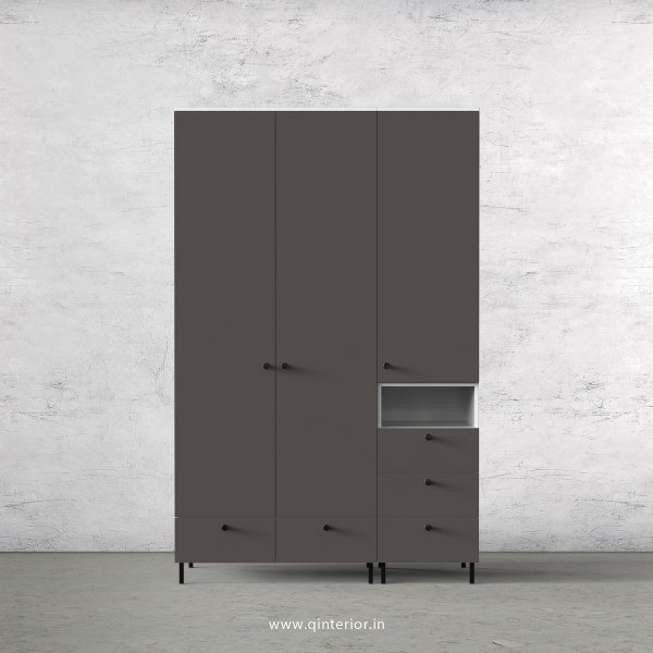 Lambent 3 Door Wardrobe in White and Slate Finish – TWRD010 C16