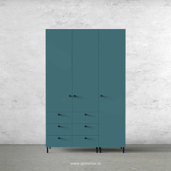 Lambent 3 Door Wardrobe in White and Shore Finish – TWRD004 C12