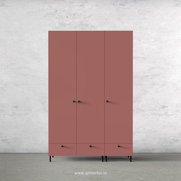 Lambent 3 Door Wardrobe in White and Blush Finish – TWRD002 C17