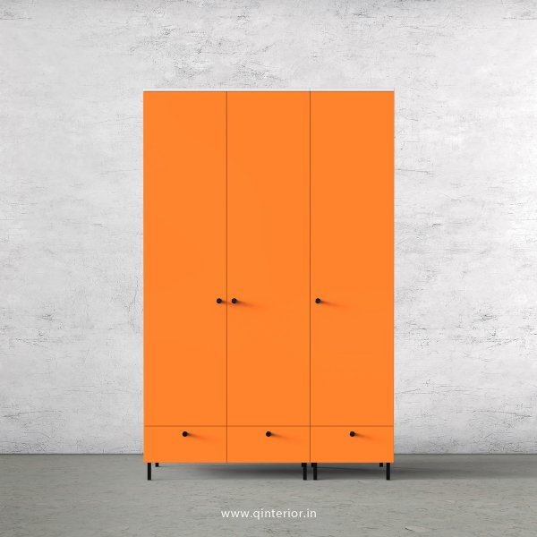 Lambent 3 Door Wardrobe in White and Saffron Finish – TWRD002 C90