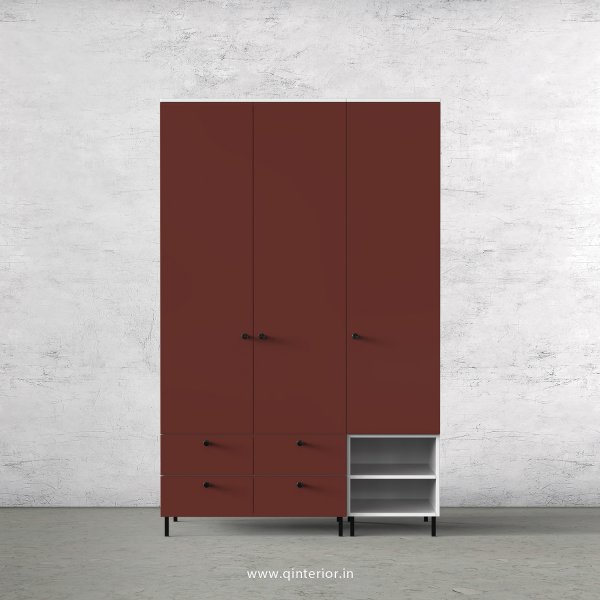 Lambent 3 Door Wardrobe in White and Shangrilla Finish – TWRD003 C14