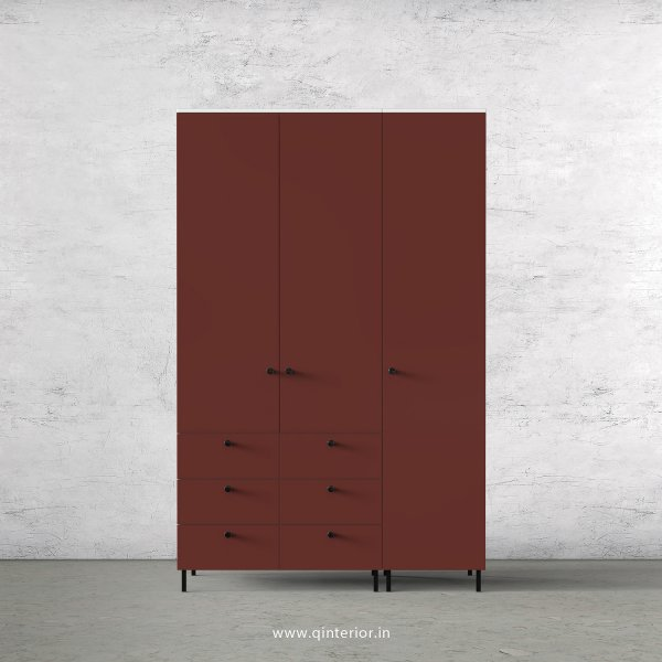 Lambent 3 Door Wardrobe in White and Shangrilla Finish – TWRD004 C14