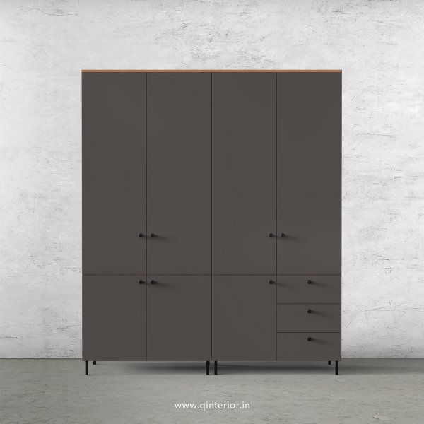 Lambent 4 Door Wardrobe in Oak and Slate Finish – FWRD007 C19