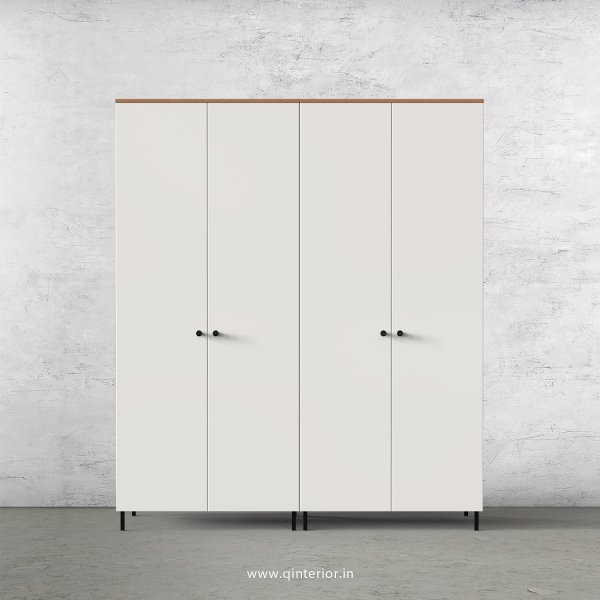 Lambent 4 Door Wardrobe in Oak and Pale grey Finish – FWRD001 C10